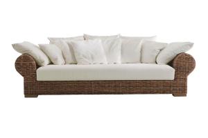 Комплект м'яких меблів Роял Кроко Сет CRUZO натуральний ротанг, темно-коричневий, md00098