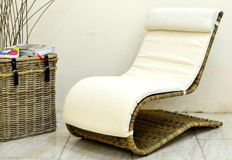 Кресло С-Лаунж CRUZO натуральный ротанг, светло-коричневый, k00096