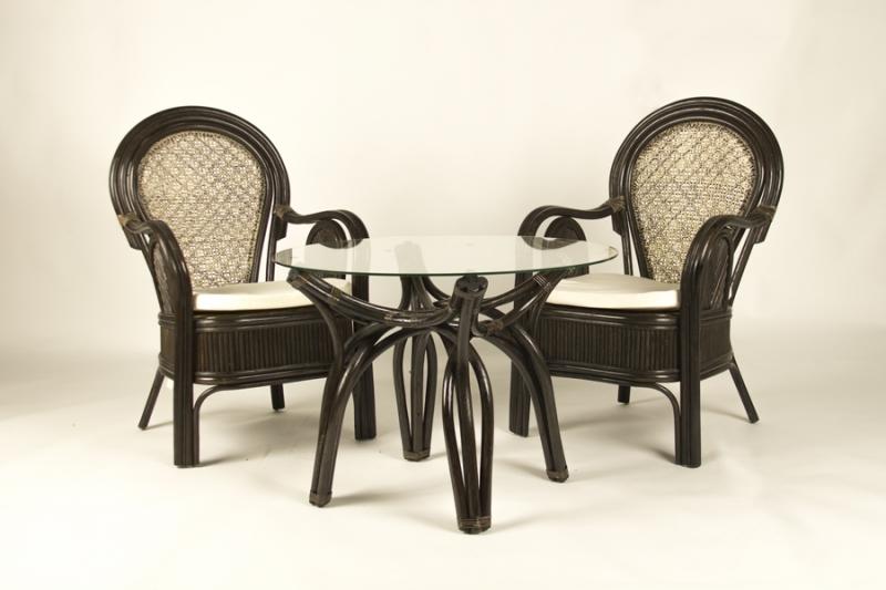 Кавовий комплект CRUZO Самбір (столик + 2 крісла) коричневий ok0012