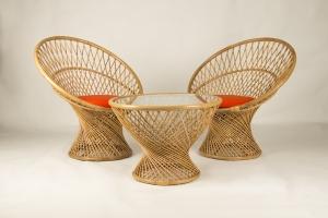 Кавовий комплект CRUZO Сенді (Столик +2 крісла) медовий ok0013