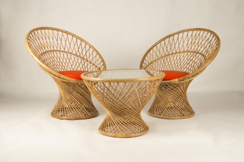 Кофейный комплект CRUZO Сенди (Столик +2 кресла), медовый, ok0013