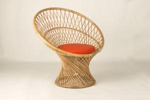 Кресло CRUZO Сенди натуральный ротанг медовый kr0008