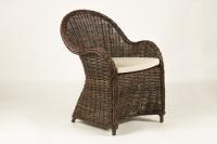 Крісло Сейшела CRUZO натуральний ротанг, темно-коричневий, kr0004