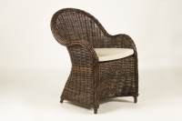 Кресло Сейшелла CRUZO натуральный ротанг темно-коричневый kr0004