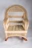 Кресло-качалка со столиком и газетницей Шале CRUZO натуральный ротанг / банановый лист, медовый, kk0002