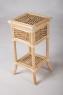 Кресло-качалка со столиком и газетницей CRUZO Шале натуральный ротанг / банановый лист медовый kk0002