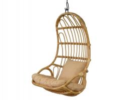 Подвесное кресло-качель Шелл-2 CRUZO натуральный ротанг kr08216