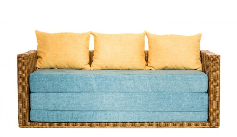 Диван-кровать Уго CRUZO натуральный ротанг светло-коричневый go0001