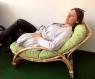 Лаунж-кресло Соло CRUZO натуральный ротанг, медовый, kr0024