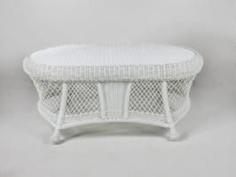 Кофейный столик Сопрано CRUZO искусственный ротанг белый kt161020202