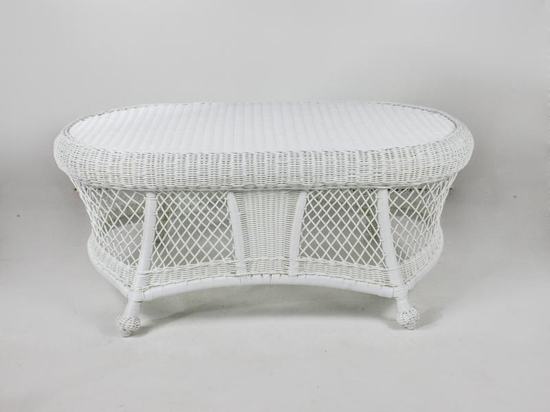 Кавовий столик Сопрано CRUZO штучний ротанг білий kt161020202