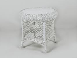 Приставной столик Сопрано CRUZO искусственный ротанг белый kt161020203