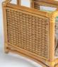 Столик-газетниця CRUZO натуральний ротанг, королівський дуб, st0003