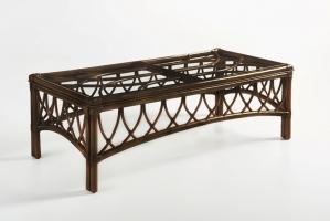 Кофейный столик CRUZO Феофания натуральный ротанг коричневый st0010