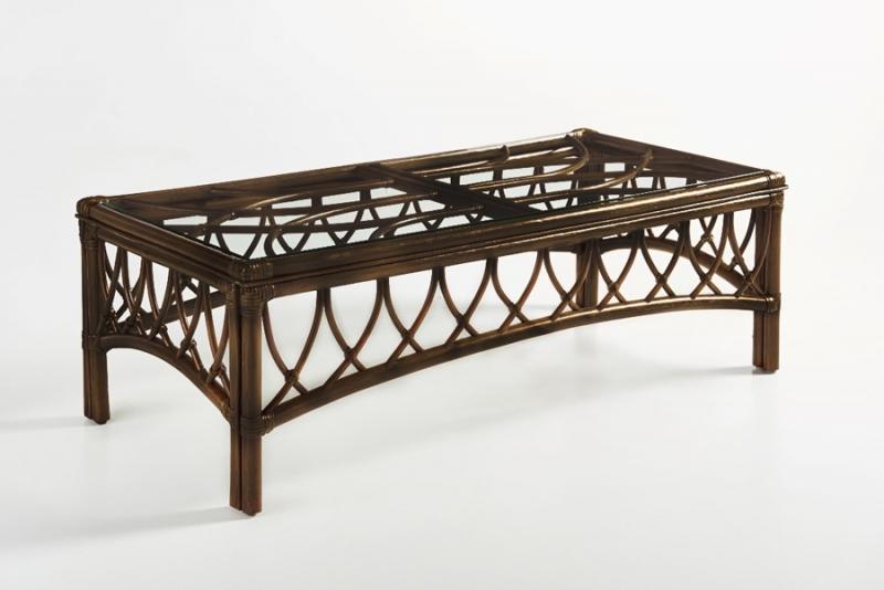 Кофейный столик Феофания CRUZO натуральный ротанг, темно-коричневый, st0010