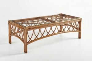 Кавовий столик Феофанія CRUZO натуральний ротанг, коричневий, st0011