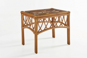 Приставной столик CRUZO Феофания натуральный ротанг ореховый st0012