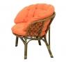 Кресло CRUZO TAVRIA натуральный ротанг, темно-медовый, kr00005