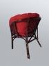 Комплект 2 кресла и столик Таврия Фуларм Ред из натурального ротанга темно-коричневого цвета CRUZO d00092s