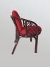 Комплект меблів Таврія Ред CRUZO (софа, 2 крісла, столик) натуральний ротанг темно-коричневий d00093