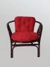 Комплект меблів Таврія Ред з натурального ротангу  софа, 2 крісла та кавовий столик темно-коричневий  CRUZO d00093