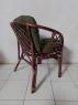 Комплект меблів Таврія Дарк-грін з натурального ротангу  софа, 2 крісла та кавовий столик темно-коричневий  CRUZO d00094