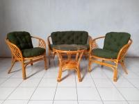 Диванчик софа Таврія Дарк-грін з натурального ротангу світло-коричневого кольору CRUZO d00099s