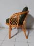 Диван софа Таврия Дарк-грин из натурального ротанга светло-коричневого цвета CRUZO d00099s