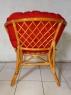 Комплект мебели Таврия Фуларм Ред из натурального ротанга софа, 2 кресла и кофейный столик светло-коричневый CRUZO d00098