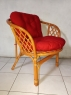Комплект мебели Таврия Ред из натурального ротанга софа, 2 кресла и кофейный столик светло-коричневый CRUZO d00096