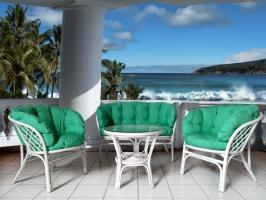 Комплект мебели CRUZO Таврия (софа +2 кресла и столик) натуральный ротанг медовый d0009