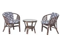 Комплект мебели Нова Таврия CRUZO (2 кресла и столик) натуральный ротанг, коричневый, d0010