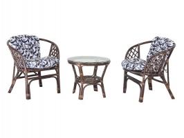 Комплект меблів Нова Таврія CRUZO (2 крісла й столик) натуральний ротанг коричневий d0010
