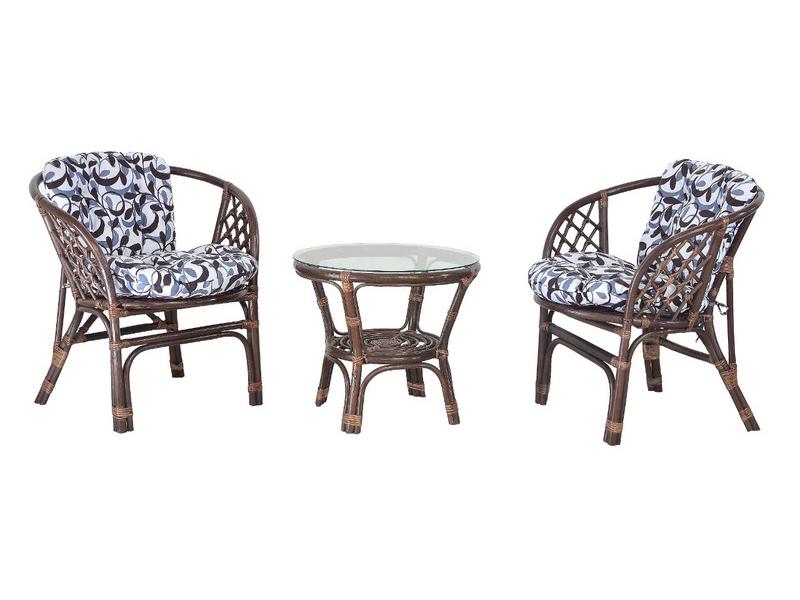 Комплект мебели Nova Таврия CRUZO (2 кресла и столик) натуральный ротанг коричневый d0010