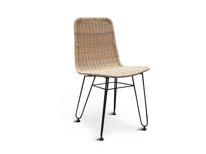Плетений обідній стілець Терра Нуово з натурального ротангу на металевій основі CRUZO ok408212