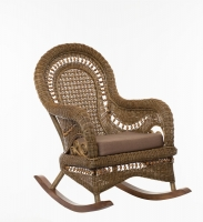 Кресло-качалка Виктория из натурального ротанга, светло-коричневая, Cruzo™, k00150