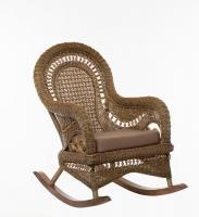 Кресло качалка Виктория CRUZO натуральный ротанг, светло-коричневый, k00150