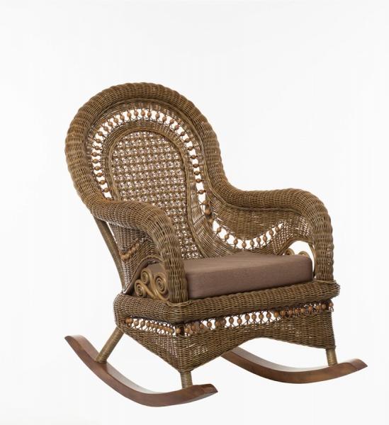 Крісло качалка Вікторія CRUZO натуральний ротанг, світло-коричневий, k00150