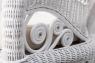 Крісло-гойдалка Вікторія CRUZO натуральний ротанг, білий, kk00140v