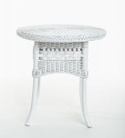 Приставной столик Виктория натуральный ротанг белый, Cruzo™, kk0444v
