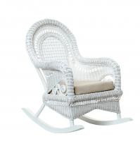 Кресло качалка Виктория CRUZO натуральный ротанг белый kk00140v