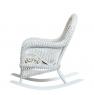 Кресло-качалка с приставным столиком CRUZO Виктория натуральный ротанг белый kk0014