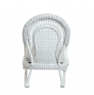 Кресло-качалка Виктория из натурального ротанга Cruzo™, белого цвета, kk00140v