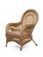 Кресло Виктория CRUZO натуральный ротанг, светло-коричневый, d0030