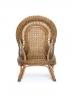 Крісло Вікторія CRUZO натуральний ротанг, світло-коричневий, d0030