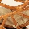 Кресло качалка CRUZO Винтаж натуральный ротанг коричневый kk0010