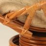 Кресло качалка CRUZO Винтаж натуральный ротанг медовый kk0010