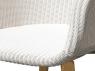 Плетене крісло Віола CRUZO лум, білий, kv02822
