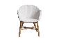 Плетеное кресло Виола CRUZO лум белый kv02822