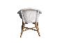 Обеденный комплект мебели Виола для дома / террасы (стол и 4-6 кресел) из тика и луму белый CRUZO kt201020201